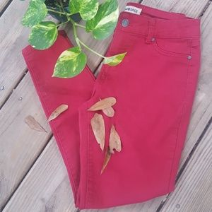 🎈Red Hot Jeans! Blue Spice sz5 Skinny Cranberry